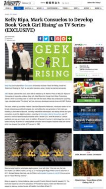 Kelly Ripa, Mark Consuelos to Develop Book 'Geek Girl Rising' as TV Series