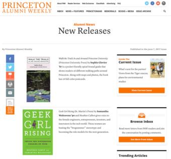 Geek Girl Rising Princeton News